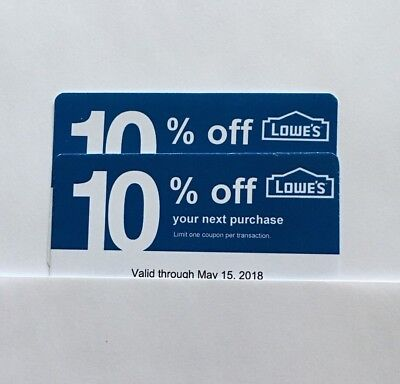 2 Lowe's Blue Card 10% Off For Home Depot + Other Comp Not Lowe's  Exp. 07/15/18
