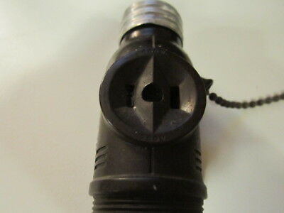 Very Old Light Bulb Switched Socket Two Outlet Adapter With Pull Chain 660W_250V