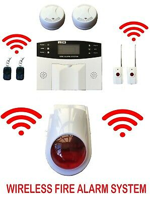 Wireless Full Fire Alarm System Ce En Home Hmo Work Shops Office Warehouse Shed