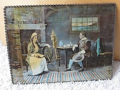 """c 1910 9""""X12"""" VICTORIAN ADVERTISING CHAIN PICTURE-FIRST NATIONAL BANK OSAKIS MN"""