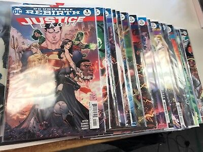 Justice League Rebirth #1-33 - DC - Complete Run Lot of 33 Different - 1st Print