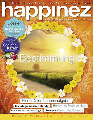 happinez ausgabe 06 2014 bestimmung mindstyle magazin zeitschrift yoga eur 2 25 picclick de. Black Bedroom Furniture Sets. Home Design Ideas
