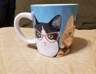 Pier 1 Ironstone Cat Mug, New