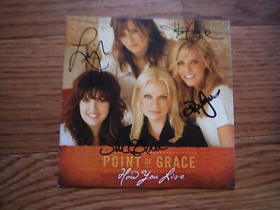 Point of Grace Autographed How You Live CD Hand Signed
