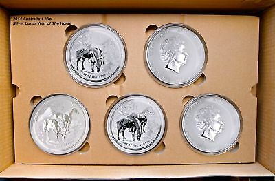2014 Australia 1 kilo Silver Lunar Horse Perth (P) Brilliant Uncirculated