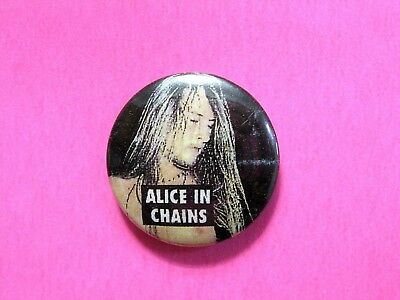 Alice In Chains Vintage Button Badge Pin Not Shirt Patch Cd Dvd Poster Uk Import