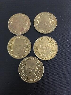 Presidential Coin Series Collector Set On Card, 5 coins