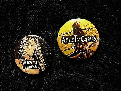 Alice In Chains Two Vintage Button Badge Pin Not Shirt Patch Cd Poster Uk Import
