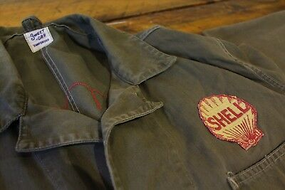 1930s SWEET ORR Workwear / SHELL OIL Embroidered Gas Station Attendant Coveralls