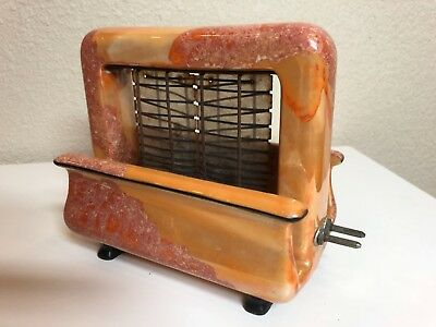 Pan Electric Toastrite Antique Ceramic Onyxide Toaster Orange 1927 Cleveland, OH