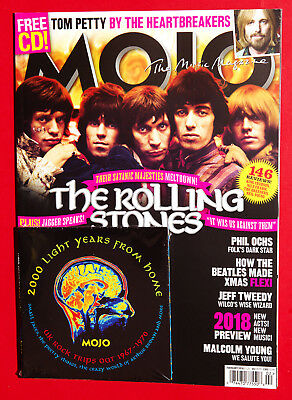 Mojo Music Magazine February 2018 THE ROLLING STONES Tom Petty - with CD!