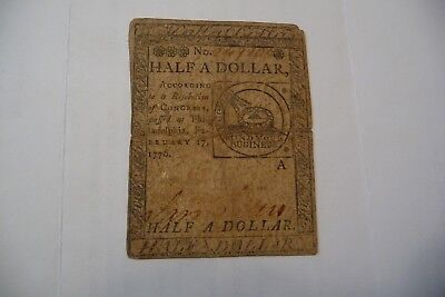 Half a Dollar Continental Currency
