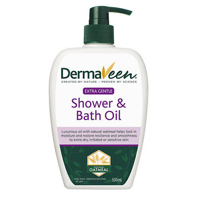 NEW DermaVeen Extra Gentle Shower and Bath Oil - 500ml