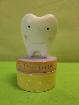 Vintage Tooth Fairy My First Tooth Box