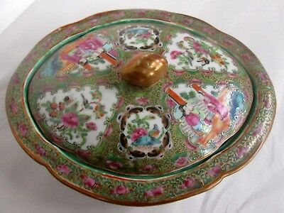 Antique Rose Medallion Covered Chinese Bowl Heavily Decorated Tommy Jones Estate