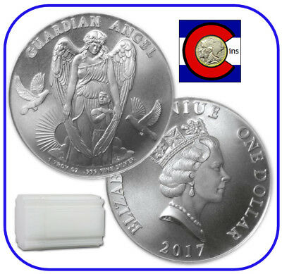 2017 Niue Guardian Angel 1 oz Silver $1 Coin -- roll/tube of 20 coins