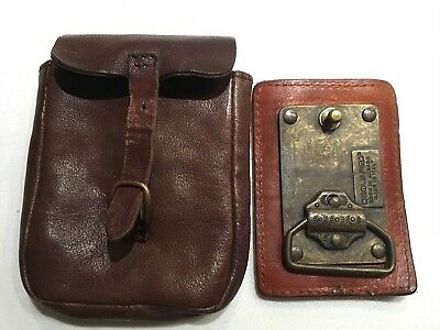 Dsquared 2 vintage five star campin leather belt buckle with satchel