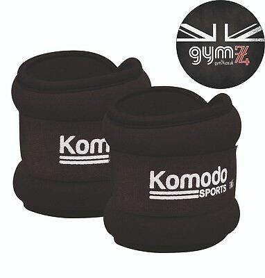 Komodo 2x Adjustable Neoprene Ankle/Wrist Weights/Straps - 3 Weights Available
