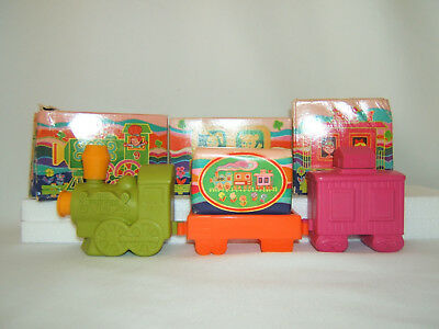 Vintage 70'S Avon CHOO CHOO TRAIN New Old Stock 3 Piece in Original Boxes