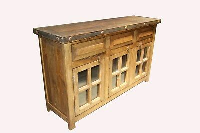 Rustic Bathroom Vanity Natural Wood 3 Gl Doors 60 Inch
