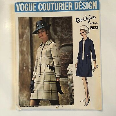 Vogue Couturier Design 2023 Galitzine of Italy Coat Dress Sewing Pattern 12 Cut
