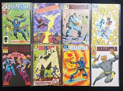 DREADSTAR Lot of 8 Marvel Comic Books - #2 3 4 5 6 7 8, & Co #1!