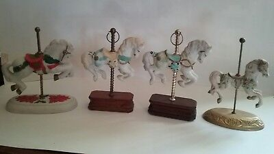 Lot of 4 Porcelain Carousel Horses, VINTAGE, Figurines