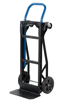Hand Truck Moving Dolly Cart 2-in-1 400 lb. Lightweight 4 Wheel Steel Platform