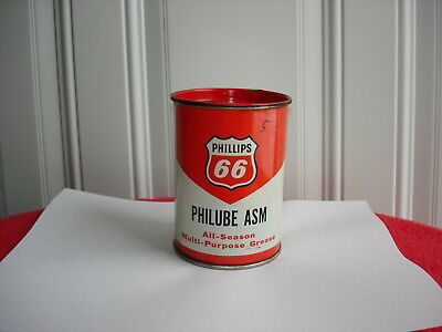 Vintage Phillips 66 Asm All Season Multi- Purpose Grease Can.
