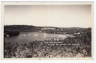 Antique RPPC - BUCKS HARBOR South Brooksville Maine ME Real Photo Postcard