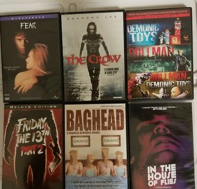 Horror Movie DVDs The Crow Fear Demonic Toys vs. Dollman In The House Of Flies
