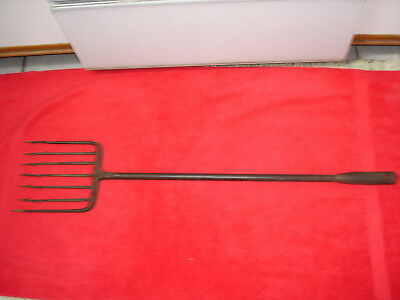 Antique/vintage Hand Forged 7 Tine Ice Fishing Spear- Fish- Spearing- Lure.