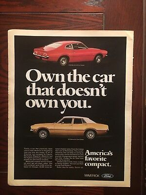 1972 Ford Maverick Magazine Ad