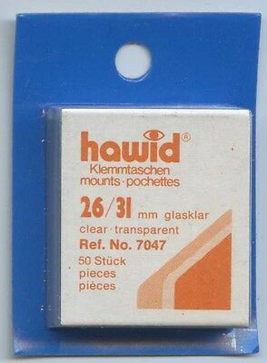 Hawid Mounts 26/31 mm (7047) pack of 50 Clear Mounts New Sealed FREE UK P&P