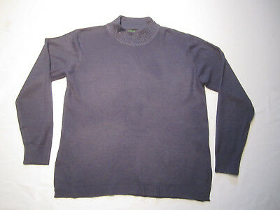 9f324a5f69b405 SUPERBE PULL SALVO Green Taille 44 Fr Laine Comme Neuf Violet Perles Mode  Femme
