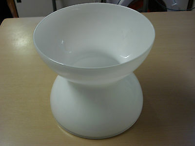 Large Vase Anne Nilsson Ikea White Glass Hourglass Post Modern