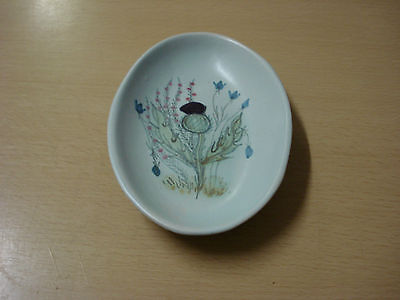 Buchan Stoneware THISTLE PATTERN Oval Butter Tray/Spoon Rest