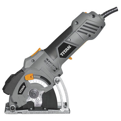 Titan Mini Circular Saw 85mm 3 Blades+Carry case Highly Versatile Straight Cuts