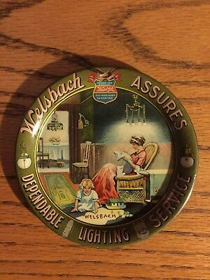 Welsbach Assures Dependable Lighting Service Tip Tray 4.25  Near Mint