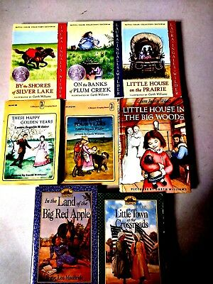 Lot of 8 Childrens Little House on the Prairie Books by Laura Ingalls Wilder