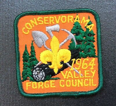 Vintage Bsa Boy Scouts Of America Patch 1964 Valley Forge Council Conservorama