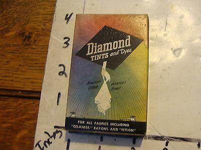 vintage box of unused dye: DIAMOND TINTS & dyes, GOLDEN BROWN sealed but stained