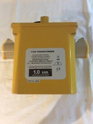 110V Transformer 1.0 kVA With Twin Outlets