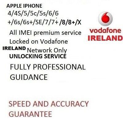 VODAFONE IRELAND UNLOCK FOR IPHONE 8 8+ PLUS and IPHONE X  , 100% FACTORY UNLOCK