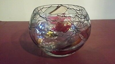 Partylite Retired Calypso Stained Glass Mosaic Votive Candle Holder
