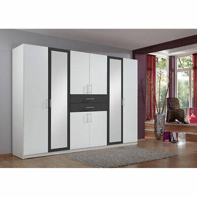 kleiderschrank 270cm diver schrank schlafzimmer wei. Black Bedroom Furniture Sets. Home Design Ideas
