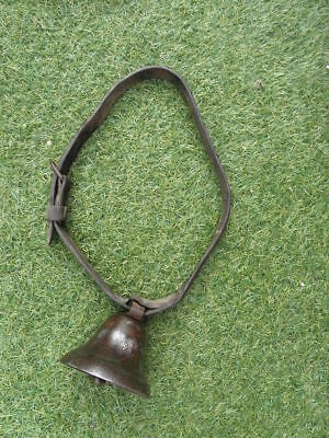 ANTIQUE metal  BELL SLEIGH BELLS Leather PRIMITIVE COUNTRY french old