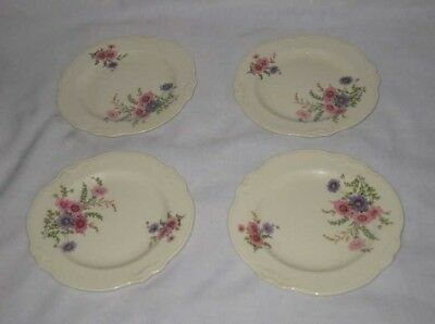 Neat Lot Of 4 Bread And Butter Plates Homer Laughlin Virginia Rose Dishes China
