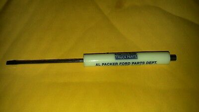 Al Packer Ford Parts advertisement pocket screwdriver. Nos.