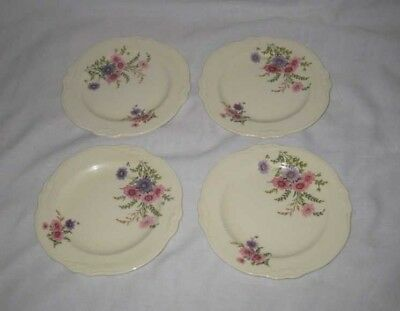 Wonderful Lot Of 4 Bread And Butter Plates Homer Laughlin Virginia Rose Dishes